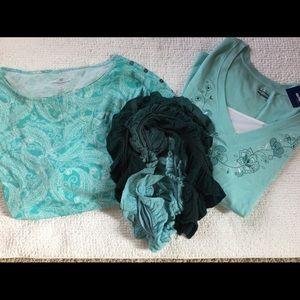 Women's plus size 3X  Liz  Claiborne lot of shirts